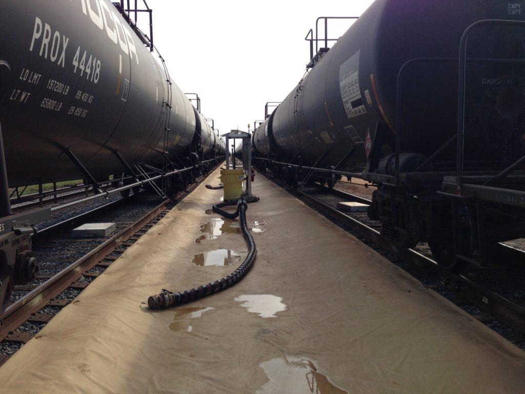 Railroad Release Secondary Containment Liner - RoboLiner®